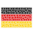 german flag collage of plant leaf items vector image vector image