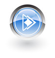 glossy icon play vector image vector image