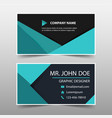 green corporate business card name card template vector image vector image