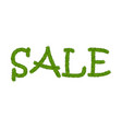 green grass sale text isolated white background vector image vector image