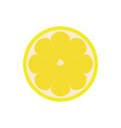 half of lemon icon isolated object lemon logo vector image vector image