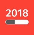 happy new year 2018 loading creative design vector image