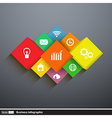 Infographics template cubes and squares vector image vector image