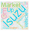 Isuzu Corporate Overview text background wordcloud vector image vector image