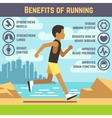 Jogging man running guy fitness exercise vector image vector image