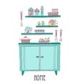 Kitchen set Design elements of kitchen vector image