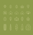 leaf outline icon vector image vector image