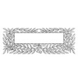 Leaves vines made by this frame in this pattern vector image