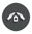 Medical insurance sign Health insurance symbol vector image vector image