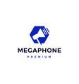 megaphone hand speaker portable logo icon vector image