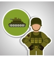 Military tank design vector image vector image