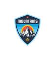 mountains - concept badge climbing logo in flat vector image vector image