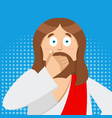 omg jesus is facepalm pop art oh my god christ vector image vector image