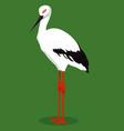 oriental stork cartoon bird vector image vector image
