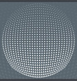 pattern grey and white triangle halftone circle vector image