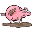 Pig farm animal cartoon vector | Price: 1 Credit (USD $1)