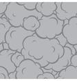 Pop art smoke seamless pattern grey vector image vector image