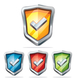 Protection shield security icons vector image vector image