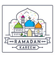 ramadan kareem with simple modern mosque vector image vector image