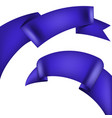 realistic purple decorative ribbon eps 10 vector image vector image