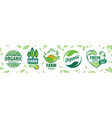 set icons for natural products vector image