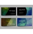 Set of business cards low poly design vector image vector image