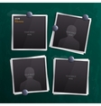 Set of empty photo frames on chalkboard vector image vector image