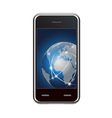 Smart phone and global network vector | Price: 1 Credit (USD $1)