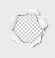 snatched middle white paper with torn edges vector image vector image