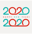 tape numbers in text design pattern happy new year vector image vector image