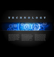 Techno Background Blue vector image vector image
