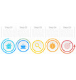 template circle infographic with arrows vector image vector image