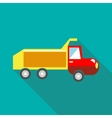 Toy truck icon in flat style vector image vector image