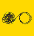 unraveling tangled tangle vector image vector image