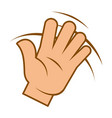 wave hand hello sign greeting gesture isolated vector image