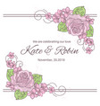wedding decor wedding set vector image