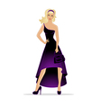 Woman in dress vector image