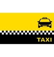 yellow business card with taxi car vector image vector image