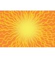 Yellow orange pop art comic retro background vector image vector image