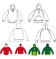 set of hoodies vector image