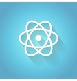 Atom molecule the symbol of physics and vector image