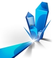 blue crystal background vector image