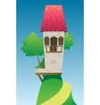 digital fairytale and fantasy castle vector image