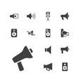 13 loudspeaker icons vector image vector image