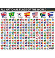 all national flags world speech bubbles vector image vector image