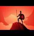 ares greek god war vector image