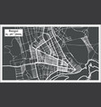 bangui central african republic city map in retro vector image