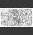 Birmingham uk city map in retro style outline map