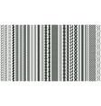 braid seamless borders braided nautical plaits vector image