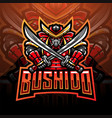 bushido esport mascot logo design vector image